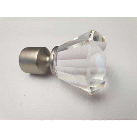 Matinio sidabro 19mm Crystal antgalis