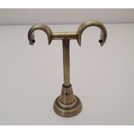 Antikinės bronzos 25mm Lubinės dvigubos kojelės