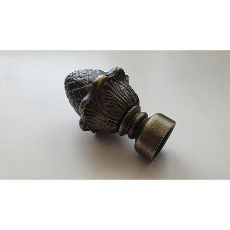 Antikinės Bronzos 25mm Kankorėžis antgalis